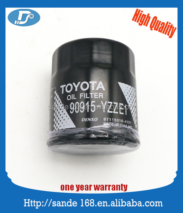 Lubrication System Oil Filter Oil Cleaner OEM 90915-YZZE1 For Toyota Yaris Prius