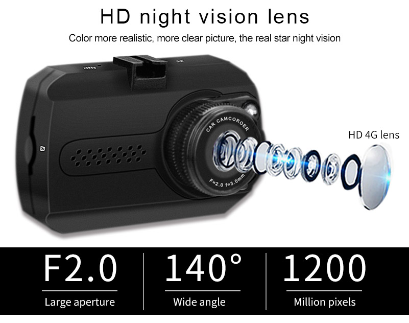 Mini CMOS 1080P FHD 1.5 inch Car DVR dash camera video recorder
