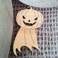 Wooden Halloween Pumpkin Theme Ornaments