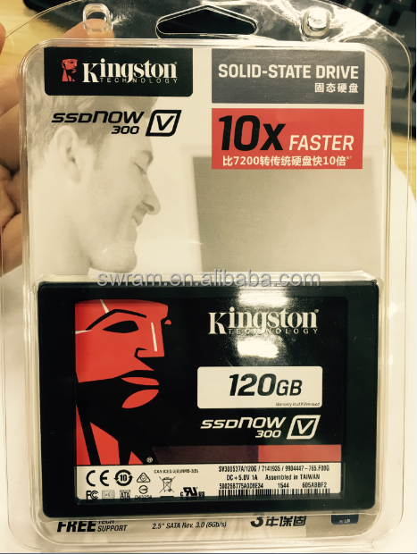 top quality ssd flash hard drive kst v300 120g sata 2.5 inch internal original chips high speed computer parts