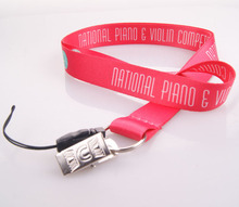 Polyester felt lanyard no minimum order & free design and sample