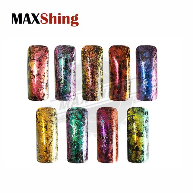 Color shifting flakes bulk random cut chameleon cosmetic flakes glitter pigment