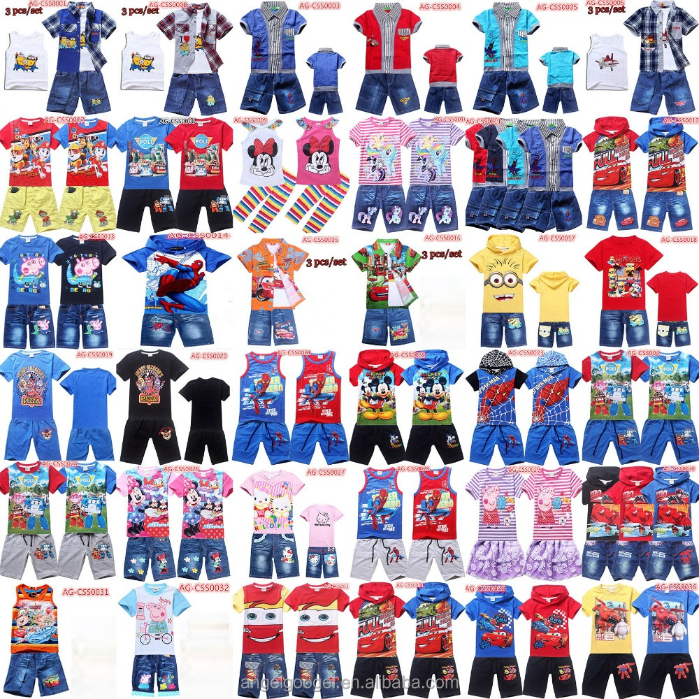 kids clothing sets cartoon clothes AG-CSS List 1