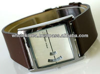 Square watch / Basic design watch / leather watch