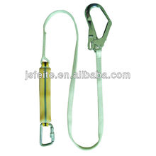 rope lanyard with shock absorber safety equip