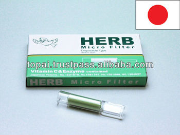 disposable cigarette filter HERB MICRO FILTER with green tea flavonoid