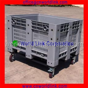 1000kgs Load 5 Wheels Transport Plastic Fruit Mesh Bulk Bin
