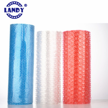 red anti-static small bubble cushioning wrap roll,colored bubble foil wrap landy