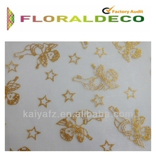 twinkling bronzing organza for decoration