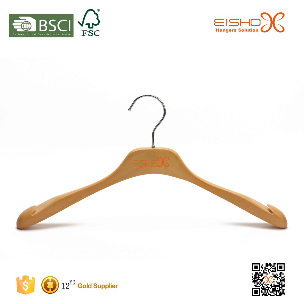 Eisho Luxury Garment Usage Antique Wood Coat Hangers