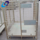 Cheap industrial foldable steel cage container