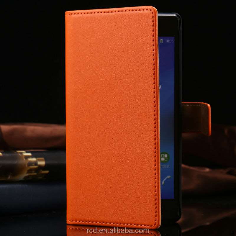 New For Sony Ericsson Z2 C770x Genuine Flip Leather Case For Sony C770X Card Pouch Cover For Sony Z2 RCD03923