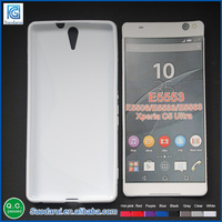 Silicon Soft Gel Case TPU Case For Sony Xperia c5 ultra S-line Phone Cover Case