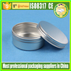 Aluminum Cosmetic Jar /aluminum Container with Thread Screw cap 100g