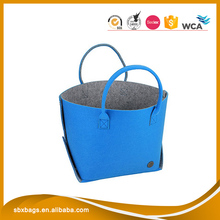 Blue Colour Wool Felt Material Women Handbag Women Tote Shopping Bag Wholesale Alibaba.com Online Sale
