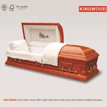 RED CEDAR pet casket luxury caskets made in china