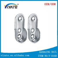wardrobe rod rail socket end support oval bracket