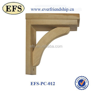 unifinshed solid wood furniture parts angle brackets for wood