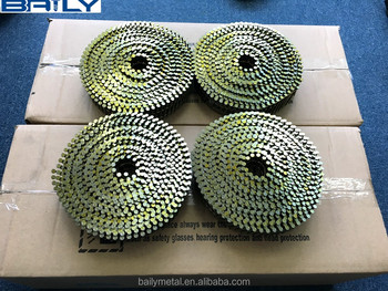 "Factory Manufaturer Supply Wire pallet coil nails 2""x0.099""Screw shank for England Markets"