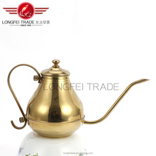 High quality gold stainless steel teapot