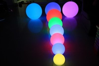Night club illuminated PE plastic Flash color changing rechargeable battery led light ball