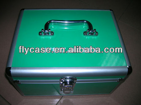 medical portable aluminum metal first aid kit tool box/empty first aid box