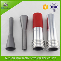 YG6/YG6X high wear resistance cemented tungsten carbide sandblasting nozzle/insert for sandblast or sand blasting machine