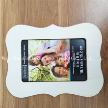 2017 High Quality standing baby DIY photo frame, Laser cut smile wooden photo frame