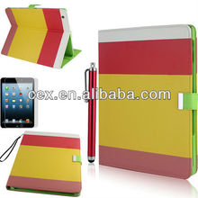 New Arrival Smart Cover PU Leather Wallet Type Magnet Design Flip Cute Case for With Apple iPad 2 3 4