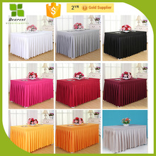 New design polyester materials in table skirting for decoration