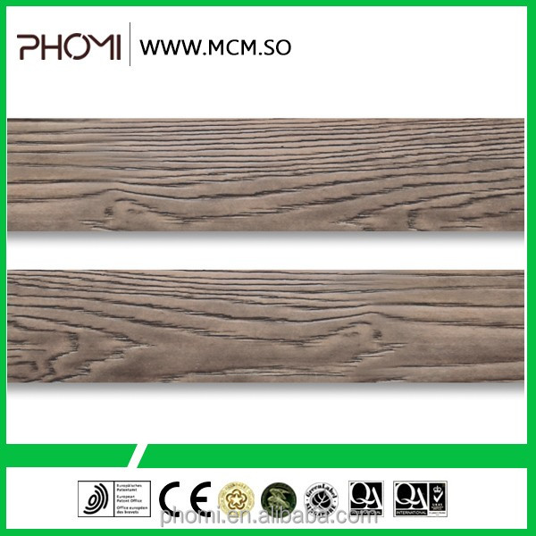 exterior faux wood wall panel and homogeneous tiles