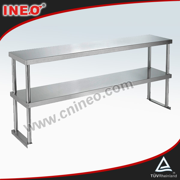 Restaurant Kitchen Metal Shelves commercial restaurant table top stainless steel shelving(ineo are