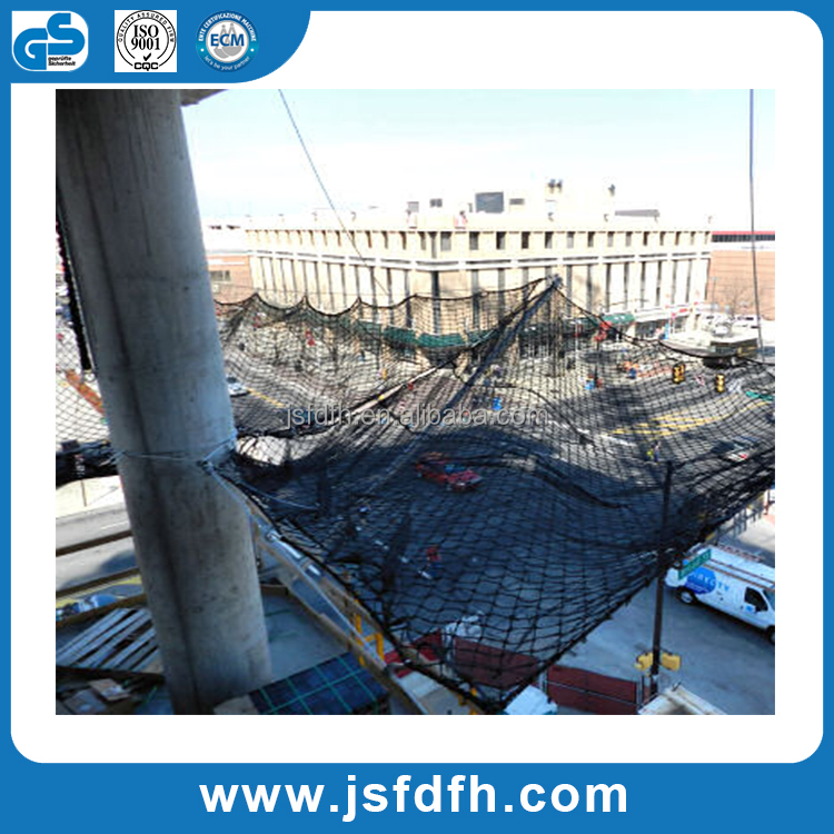 Direct factory of CE standard polyester material safety net for construction fall protection