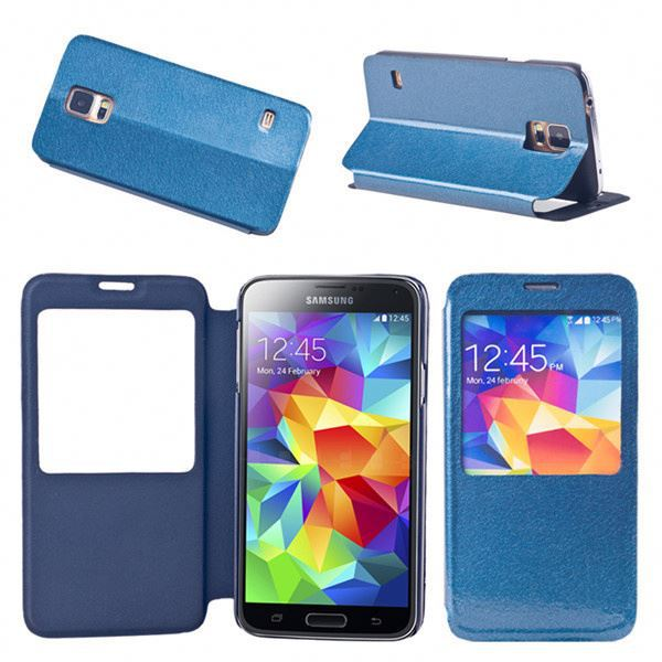 Handmade Stitching Card Slot Case For Samsung Galaxy S5