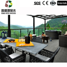 Extruded bamboo plastic composite deck exterior low price wpc floor