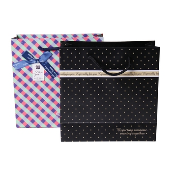 Custom print garment paper shopping hand bag