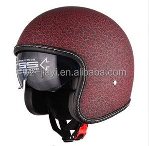 Open face motorcycle vintage helmet single lens/ECE and DOT approved