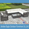 garden rattan wicker furniture sofa set with thick cushion outdoor patio sofa