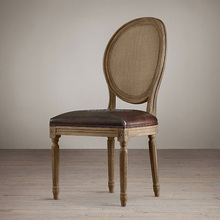 Louis xv style round solid wood dining chair round wood chair,french style wooden chair