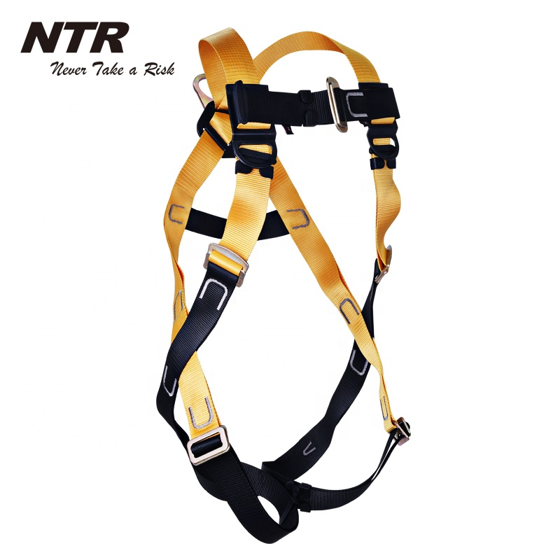 <strong>1</strong> <strong>D</strong> Ring Fall Protection Safety Harness EN361 equipment for fall arrest working at height, NFPHBK01