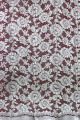 2014 High Quality Bonded Thick Ivory Flower Lace Fabric Wholesale