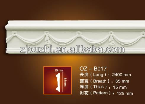 PU Carved corner moulding/3d/ceiling decoration line/construction materials/home decoration