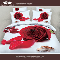 2015 new Romantic Rose, Love Heart & Ocean 3D Bedding Set
