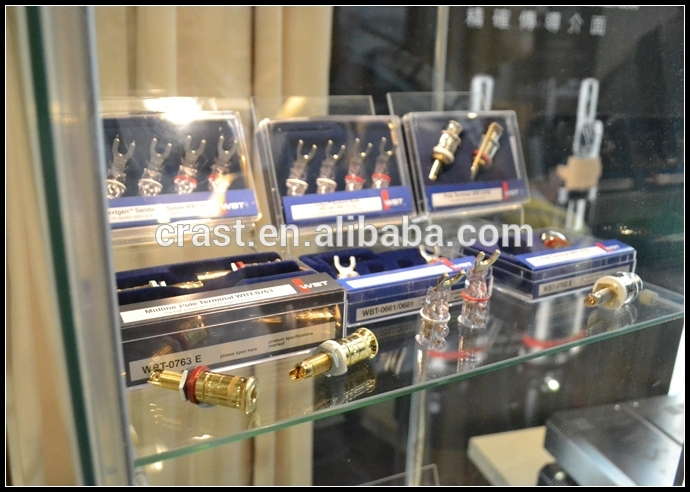 Customized made 24K Gold Plated Pure Copper RCA Connectors HIFI Tube Amplifier