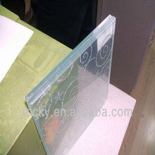 6.0mm decorative laminated glass pieces for partition or glass contain wall
