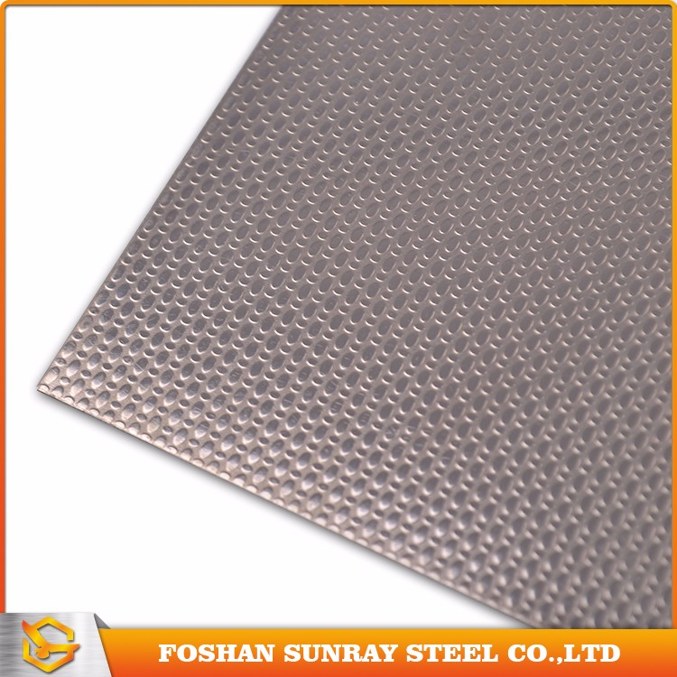 Hotel decor stamped finish stainless steel sheet metal wall covering