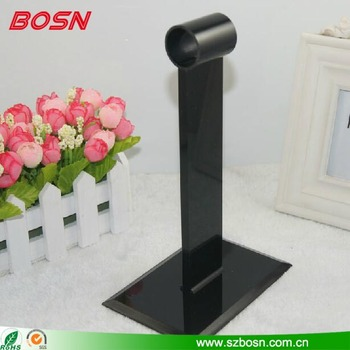 Customized Black Table top Acrylic Menu Holder Restaurant Menu Display