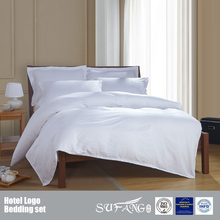 40S Cotton White 1cm Satin Stripe Hotel Bedding Set For Bed King Size,Hotel Bedding Sets 5 Star Imported Duvet Covers
