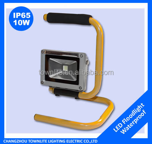 High Quality Rechargeable led floodlight 10w stand portable led work light