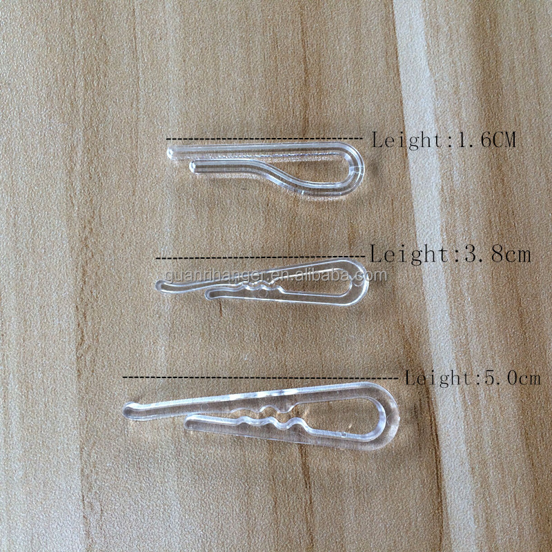 Transparent plastic clip with Teeth,without teeth,for dress shirt garment S15,S16,S19